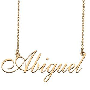 Custom Personalized Abiguel Name Necklace